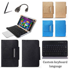 Universal Bluetooth Keyboard Case Stand Cover for Toshiba Encore 2 WT8 Tablet PC Keyboard Language Layout Customize + Gifts