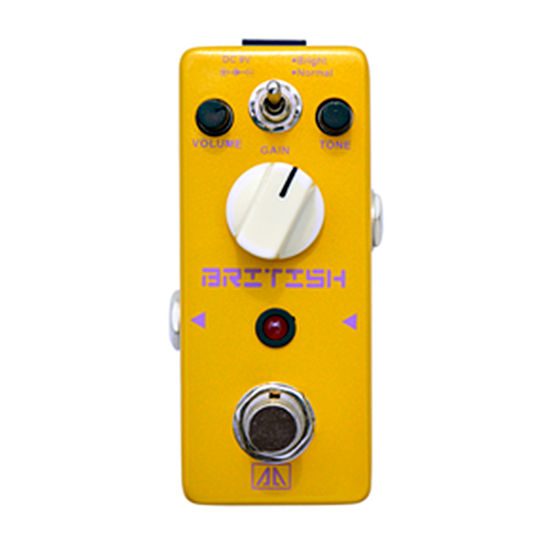 British Style Distortion Effect Pedal Volume Tone and Gain Control AA Series True bypass Effects for Electric Guitar<br>