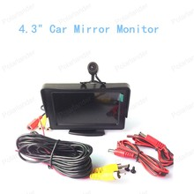 "new Portable LCD Display 4.3"" Car Mirror Monitor Color TFT with Rear View Camera Reversing Back Up Cam Kit"