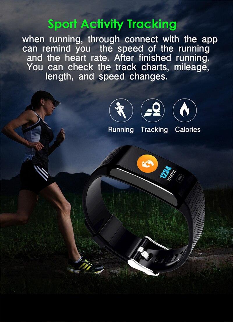 CK18S Smart Band Heart Rate Monitor Wrist Watch Intelligent Bracelet Fitness Bracelet Tracker Pedometer Wristband