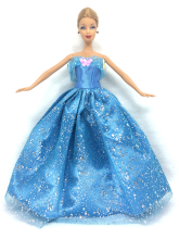 NK One Set Princess Doll Dress Similar Fairy Tale Cinderella Wedding Dress Gown Party Outfit For Barbie Doll Best Girls' Gift 6I