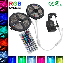 5050 RGB led strip light 5M 10M 15M 30led/M SMD Stripe diode tape+44 key remote controller 12V Power Supply Flexible Light Lampe