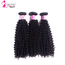 Ms Cat Hair Kinky Curly Brazilian Hair Weave Bundles 100% Human Hair One Piece Double Weft Hair Extensions Non Remy(China)