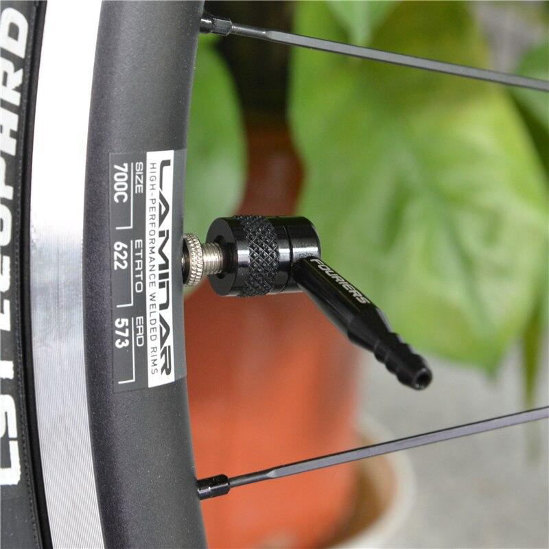 1PC Bicycle Pump Nozzle Hose Adapter black Schrader Valve Pump Accessories  fh