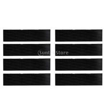 8 Pieces Skimboard Traction Pad Bar Grips Black Diamond Grooved EVA Surfboard Paddle Shortboard SUP Surf Accessories