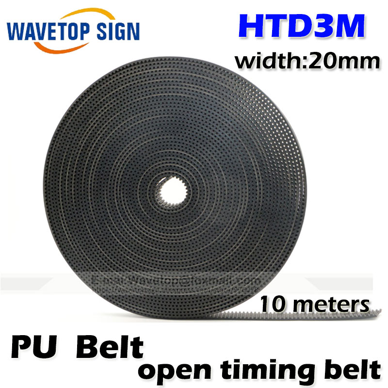 10meters HTD3M PU Open Belt 3M Timing Belt 3M-20 Polyurethane for CO2 Laser Engraving Cutting Machine<br>