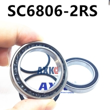 2pcs rubber sealed 440 stainless steel hybrid ceramic ball bearings S6806-2RS CB 6806 2RS 30*42*7mm Si3N4 bike part