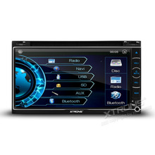 "XTRONS 2 Din 6.95"" Universal Car DVD Player Radio USB SD Touch Screen Bluetooh GPS Navigation Stereo Video Multimedia automotivo"
