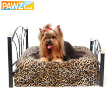 PAWZ Road Fast Delivery Luxury Pet Bed Dog House Zebra Leopard Sofa for Pet Cat Puppy Cushion Mats Furniture High Quality(China)