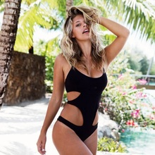 DEED V One Piece Swimsuit Sexy Push up Moniquini Women Vintage Black Bandage Summer Beach Swimwear Female Dress Bathing Suit