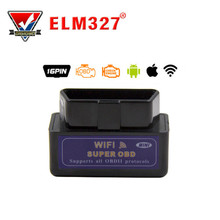 Buy Super OBD2 Scanner ELM327 WIFI Hardware V1.5 Supports Android/iOS/Windows PIC18F25K80 ELM 327 Wi-Fi Diesel Cars for $9.95 in AliExpress store