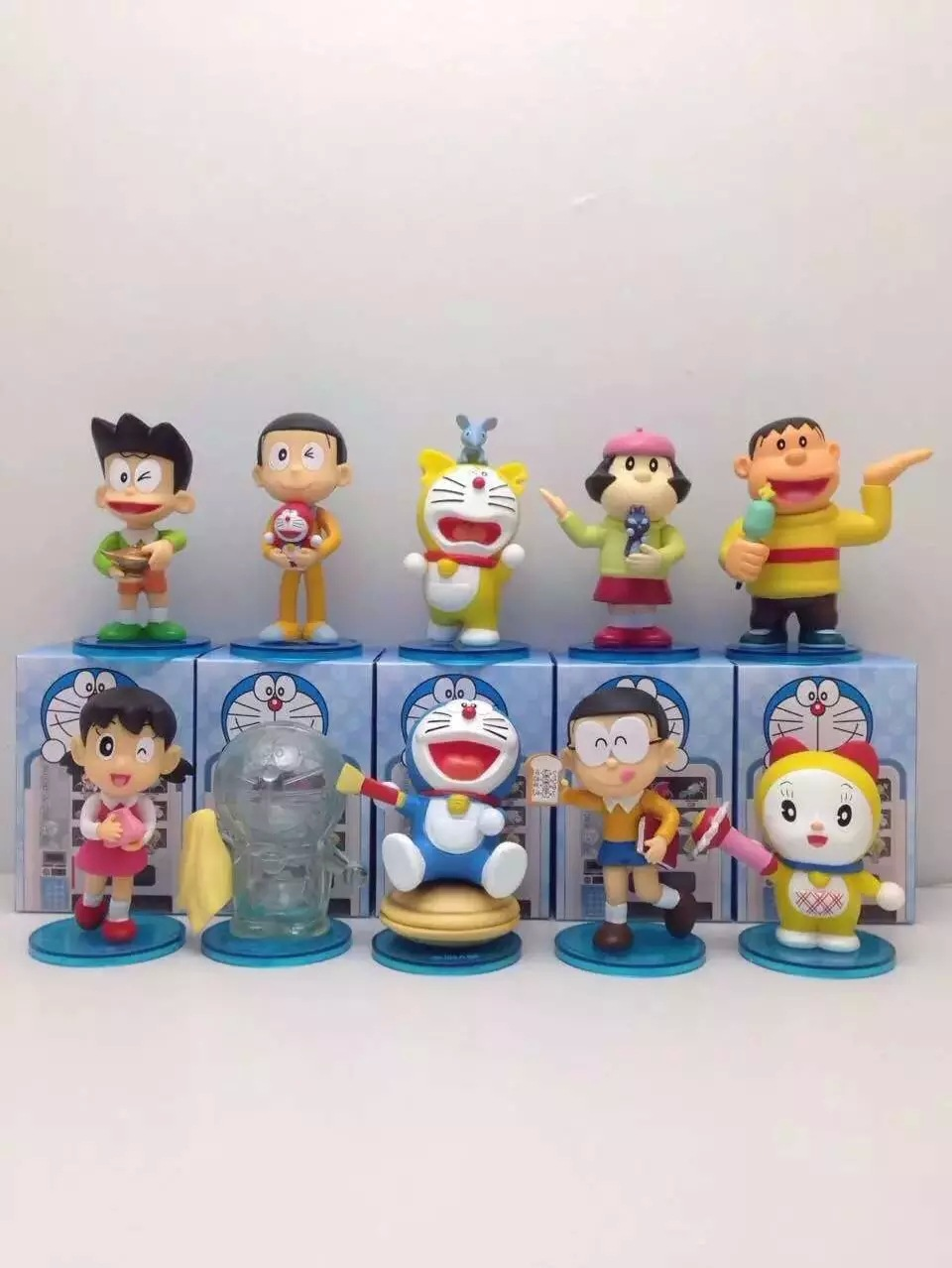 Anime Figure 10 pcs/set Cartoon Doraemon Nobi Shizuka Dorami Car Decoration PVC Action FigureToys Gifts Doll Model Collectibles<br><br>Aliexpress