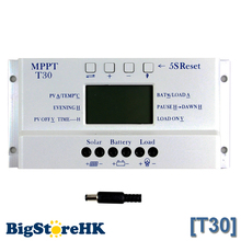 Solar Controller MPPT T30 12v 24v Auto Work Voltage Settable Intelligent Lighting and Dual Timer Control Solar Regulator