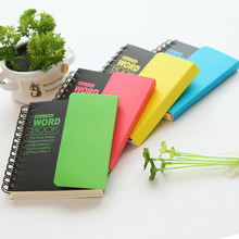 1 Pcs Cute Fluorescence Color Notebook Hard Copybook English Vocabulary Book School Office Supplies Daily Notepad