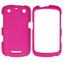 Hot Pink Rubber Coated Hard Skin Cover Case for Blackberry Curve 9350 9360 9370