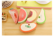 3 PC/Lot Cute Fruit-Shaped Memo Pad Sticky Note, Apple & Pear & Watermelon & Strawberry &Peach, BQB00015