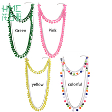 1pc Fashion Original Personality Exaggerated Hair Ball Multi-Storey Popular Necklace Alloy Necklace Chain Accessories Jewelry(China)