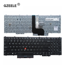 GZEELE New for lenovo IBM Thinkpad P70 P70S P50 P50S MT 20EN 20EQ English US laptop Keyboard notebook Without backlight BLACK(China)