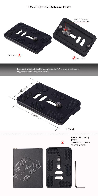 2er Pack Schnellwechselplatte 70mm für Benro Arca Swiss Kamerastativ