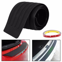 Hot 35inch Car Rear Bumper Guard Protector Trim Cover Sill Plate Trunk Pad Kit New