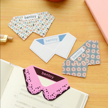 P15 4x Creative Cute Kawaii Collar Style Elegant Bookmark Stationery School Supplies Student Gift Rewarding Prize(China)