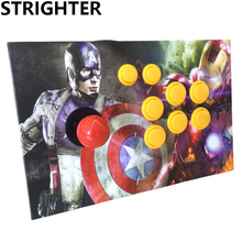 Captain America arcade joystick pc controller computer game Arcade Sticks usb connector new street fighters Joystick Consoles