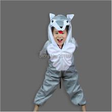 Animal Big Bad Wolf Cartoon Animal Suits / Children's Day Performance Clothing / Halloween Kids Cosplay Costume Fancy Dress