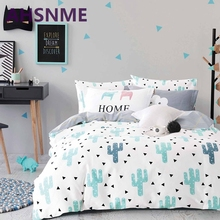 AHSNME 100% Cotton Bedlinen Luxury bedclothes King Queen double size bedcover Doona duvet cover sheet pillowcase bedding set