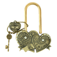 "Buy Heart heart. key love memorial locks charm crafts gifts. ceremony decoration,lock bridge.""You + castle wedding = 7"" for $4.58 in AliExpress store"