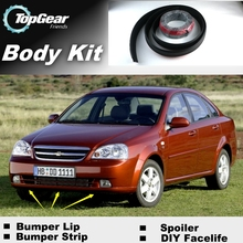 For Chevrolet Nubira Bumper Lip Lips / Top Gear Shop Spoiler For Car Tuning / TOPGEAR Recommend Body Kit + Strip(China)