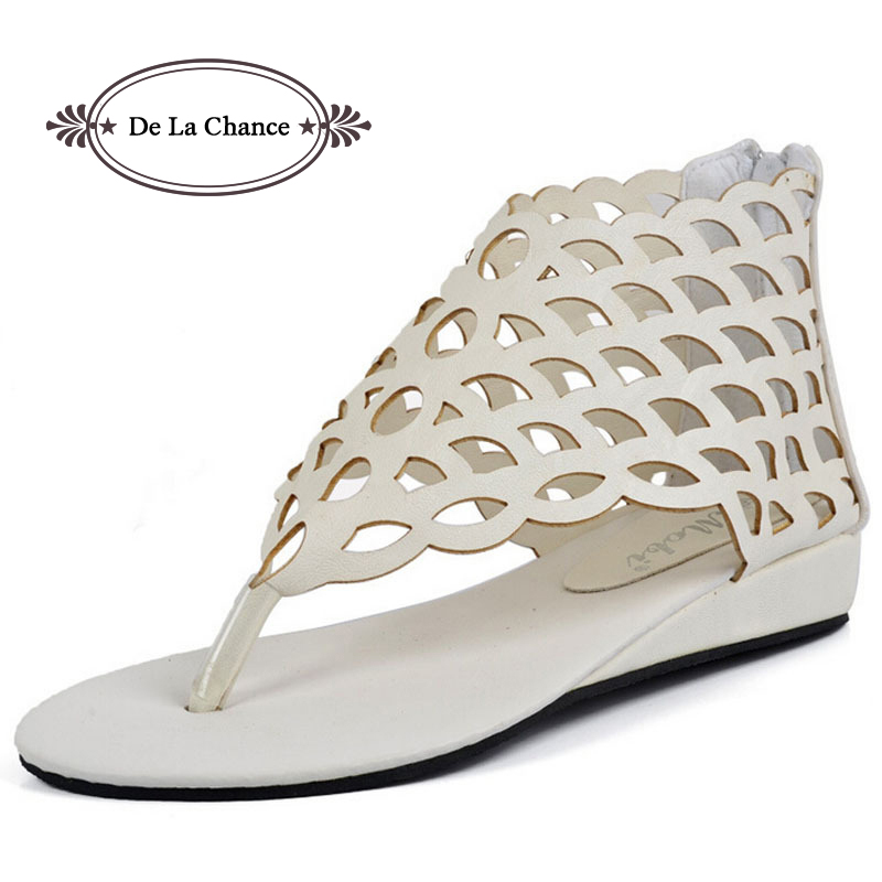 2017 Fashion Womens Shoes Gladiator Flats Open-toe Thong Sandals Gladiator Sandals Women Casual Shoes Plus Size 40<br><br>Aliexpress