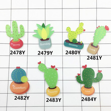 1 Piece Icons On Backpack Acrylic Badges Cactus Badges For Clothing Glasses Backpack Badge Lable Icons Pin Brooch Female Jewelry