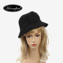 Winter Women bucket hat wool casual 2017 Hecrafted brand fashion hat #PYF010(China)