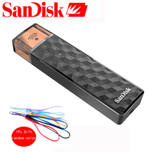 SanDisk Connect Wireless Stick USB Flash Drive 64GB Pen Drive 128GB  SDWS4 Wi-Fi + USB 2.0 pendrive 16GB 32GB
