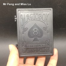 Black Magic Box Props Restore Playing Card Magic Trick Game Children's Toys Kids Gifts(China)