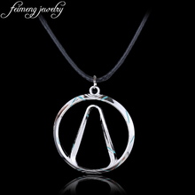 feimeng jewelry Shooting Game Borderlands Necklace Silvery Vault Symbol Pendant Necklace For Men Fashion Cool Accessories