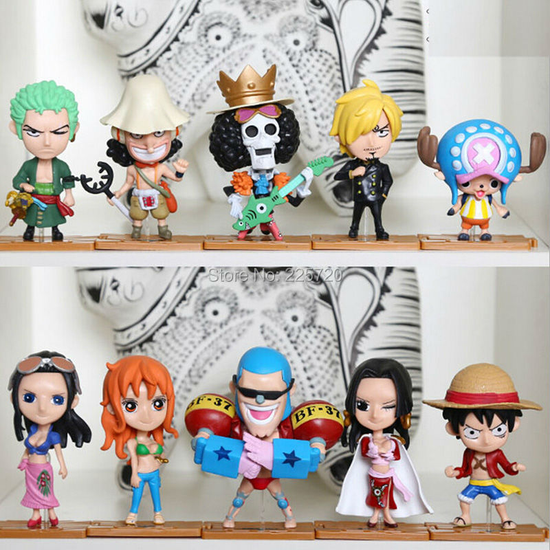 10pcs/lot mini One Piece Figure New Anime Figures Luffy/Zoro/Hancock Collection Model Toys<br><br>Aliexpress