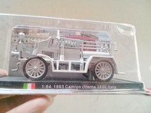 Alloy fire truck model ancient Italian classic car silver original package(China)
