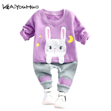 Buy KEAIYOUHUO Spring Autumn Girls Cute Rabbit Clothes T-shirt+Pants 2pcs Kids Clothes Sport Suit Children Clothes Toddler Clothing for $9.76 in AliExpress store