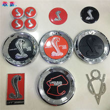 3D GT roush Cobra stickers Automobile grille  Hub cap Steering wheel car stickers for Ford Mustang Special modification