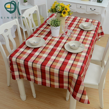 Sinogem Tablecloth Country Style Rectangular Lattice Pattern Printing Hotel Party Wedding Tablecloth Dining Coffee Table Cloth(China)