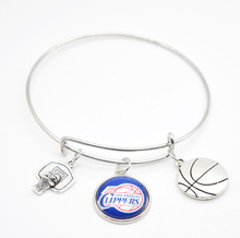 2017 New Basketball Charm Los Angeles Bracelets&Bangle for Women Super Bowl Fans Jewelry