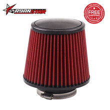 "RYANSTAR - Free shipping 3"" Air Filter 76mm Air Intake Filter 160mm Height High Flow Cone Cold Air Intake(China)"