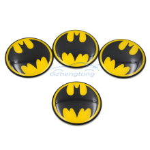 Car Sticker Batman 60mm Car Steering Wheel Center Hub Cap Emblem Auto Decal Badge Rim Cover Stickers for BMW Audi Nissan Ford VW