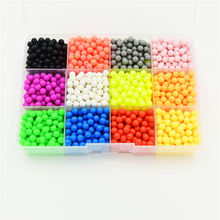 12 Colors Water Aqua beads sticky perler beads pegboard set fuse beads jigsaw puzzle Water beadbond educational toys diy toys