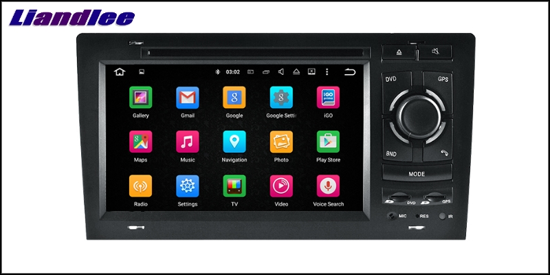 Liandlee Car Multimedia Player NAVI For Audi A8 S8 D2 4D 1994~2003 Car Touch Screen System Radio TV DVD Stereo GPS Navigation 7