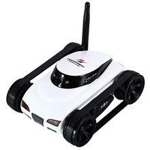 RC Mini Tank Car ISpy with Video 0.3MP Camera 777-270 WiFi Remote Control Robot with Camera 4CH Suppots By Iphone Android App(China)