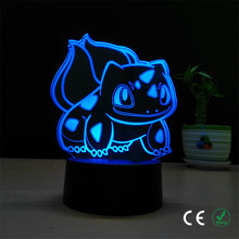 The new digital baby cute frog seeds 3 d light LED visual light Romantic birthday gift table lamp