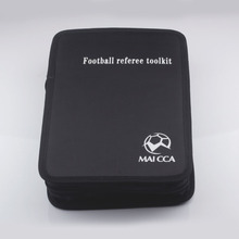MAICCA Soccer referee bag Professional  Black Football referee toolkit Sports wallet equipment Customer Make