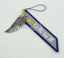 Singapore Airline Cell  Luggage bag Tag with Metal Wing  Green Gift for Aviation Lover Flight Crew Piloy